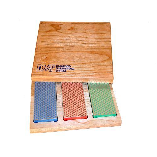 3 - 6-in. Diamond Whetstone Models in Hard Wood Box